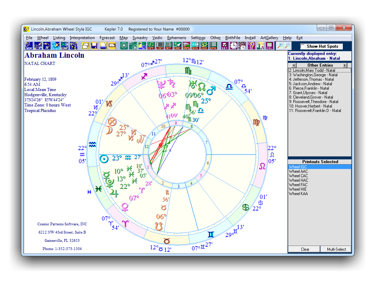 Kepler by Cosmic Patterns