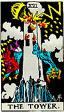 Tower Rider Waite Tarot Deck